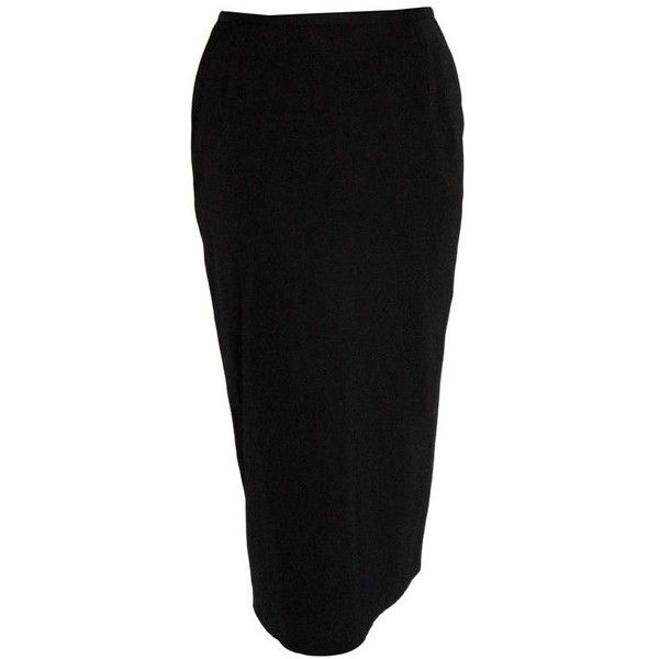 Preowned Classic Jean Paul Gaultier Black Pencil Skirt With Chunky... (2.590.385 IDR) ❤ liked on Polyvore featuring skirts, black, zipper pencil skirt, zipper skirt, jean paul gaultier skirts, jean-paul gaultier and knee length pencil skirt