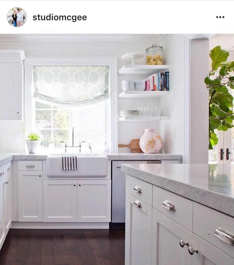 Kitchen Sink Off Centered With Window Home Open Shelving