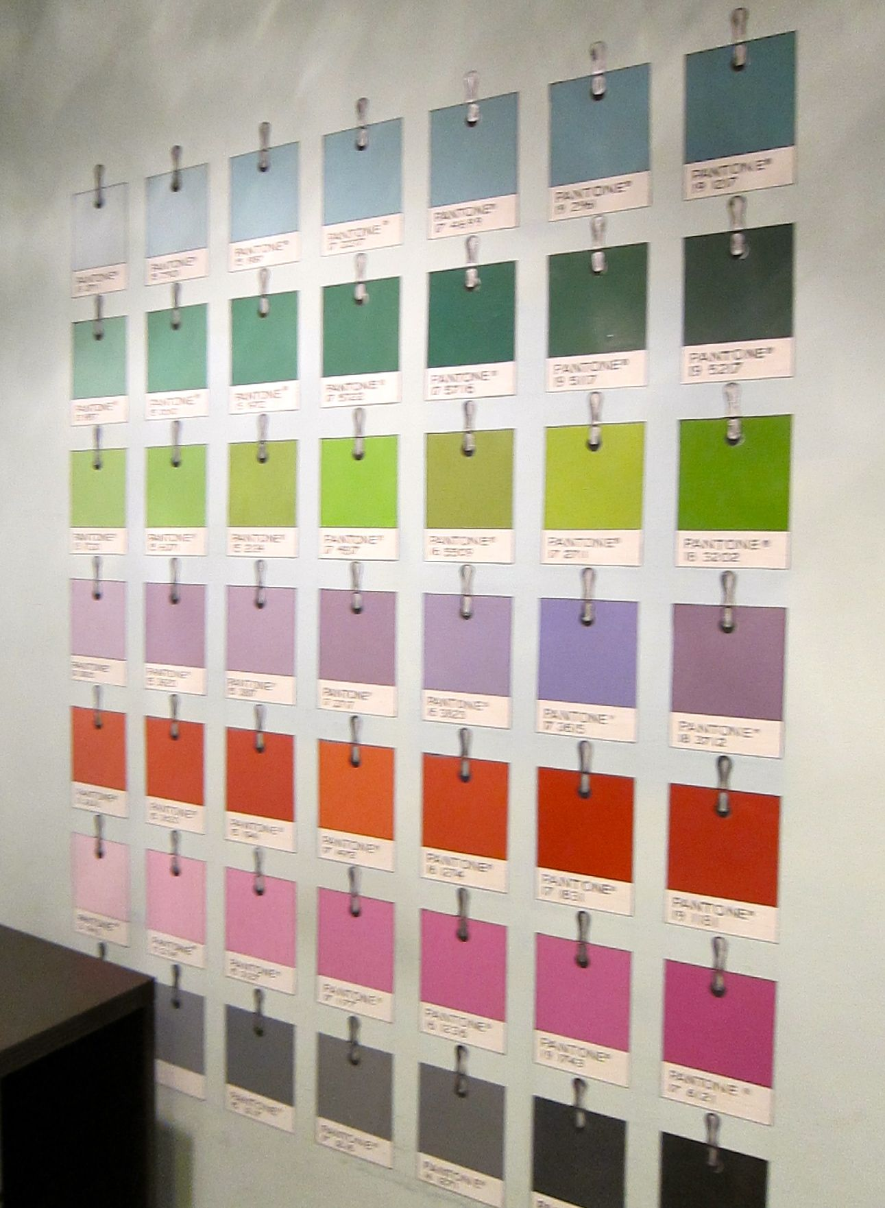 Love my hand painted pantone wall in my office