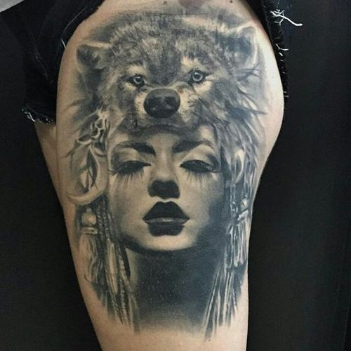 Lovely Lone Wolf Tattoos In Different Styles 2019 Ink Tattoos