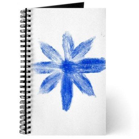 Blue metallic flower Journal on CafePress.com