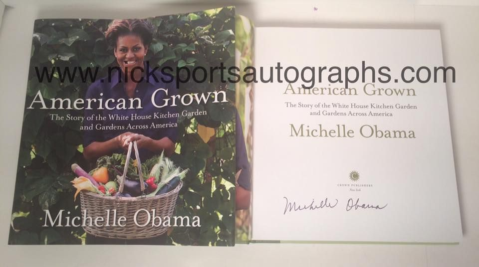 102416 Recently Obtained Autographs Of First Lady Michelle