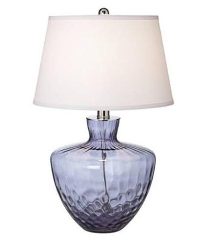 Blue Glass Table Lamp Light