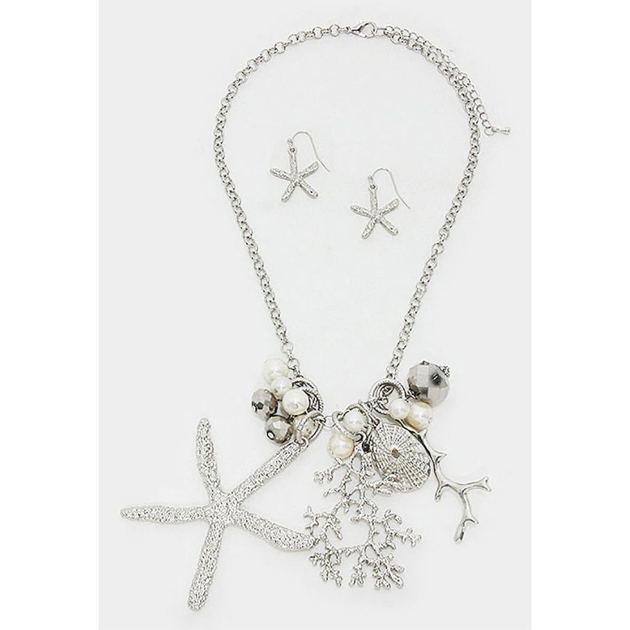 Starfish necklace set products pinterest starfish necklace