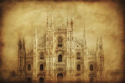 Vintage Photo of Duomo Di Milano, Milan, Italy Photographic Print at AllPosters.com