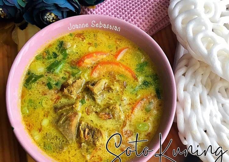 Resep Soto Ayam Santan Kuah Kuning Yang Lezat Makan Nikmat Resep Masakan Masakan Resep