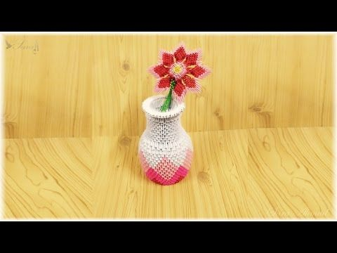 How To Make A Paper Flower Vase - DIY Simple Paper Craft - YouTube ... | 360x480