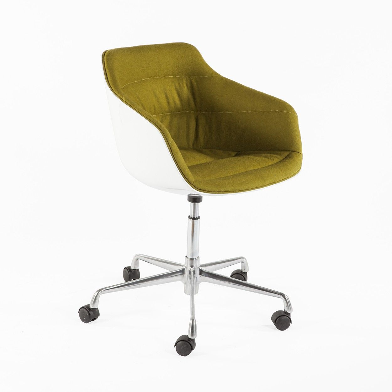 Finness task chair olive wool upholstery chair