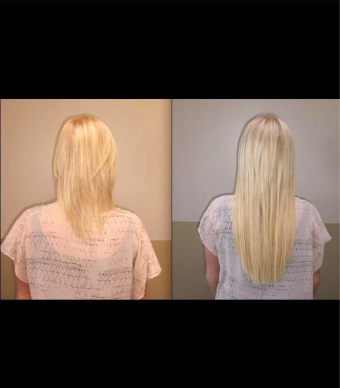Before After SOCap Hair Extensions