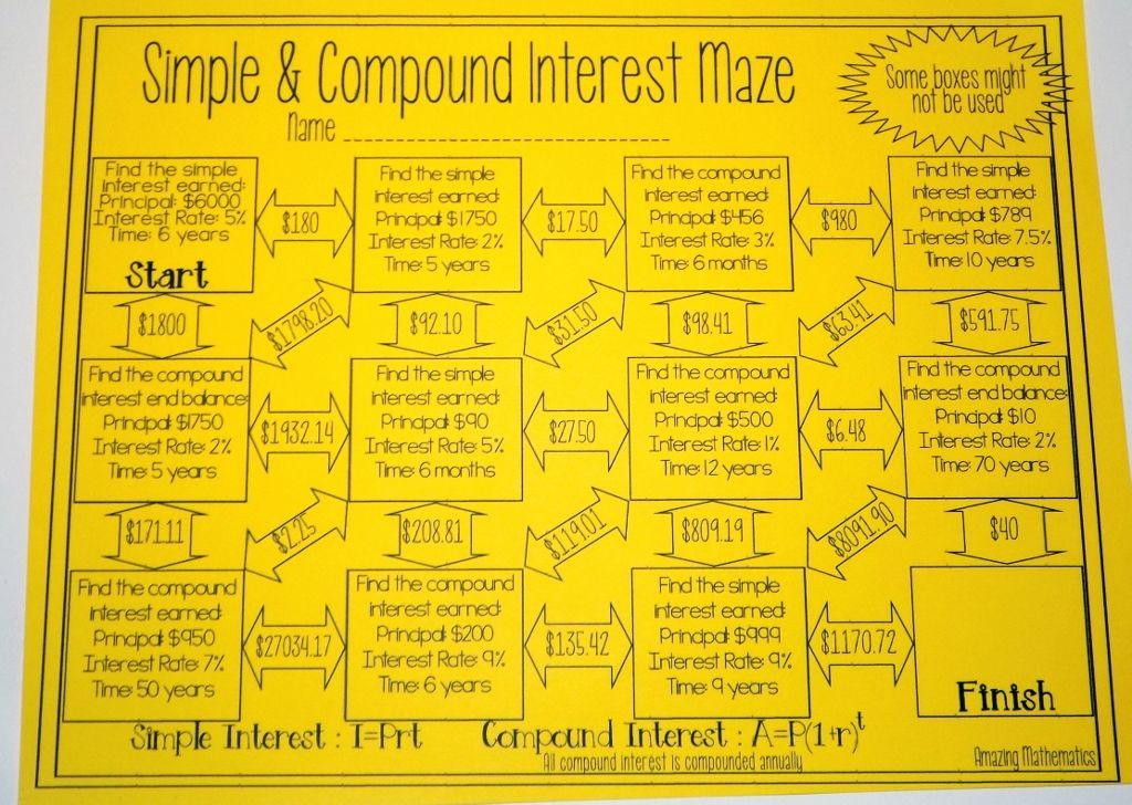 simple compound interest maze