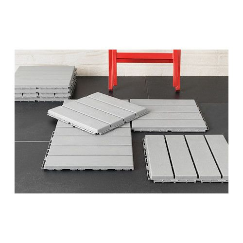 Runnen Decking Outdoor Gray 9 Sq Feet Patio Flooring Ikea Flooring Ikea Outdoor