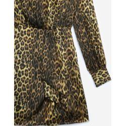 The Kooples - Printed silk dress with balloon sleeves - Herren #rockandrolloutfits