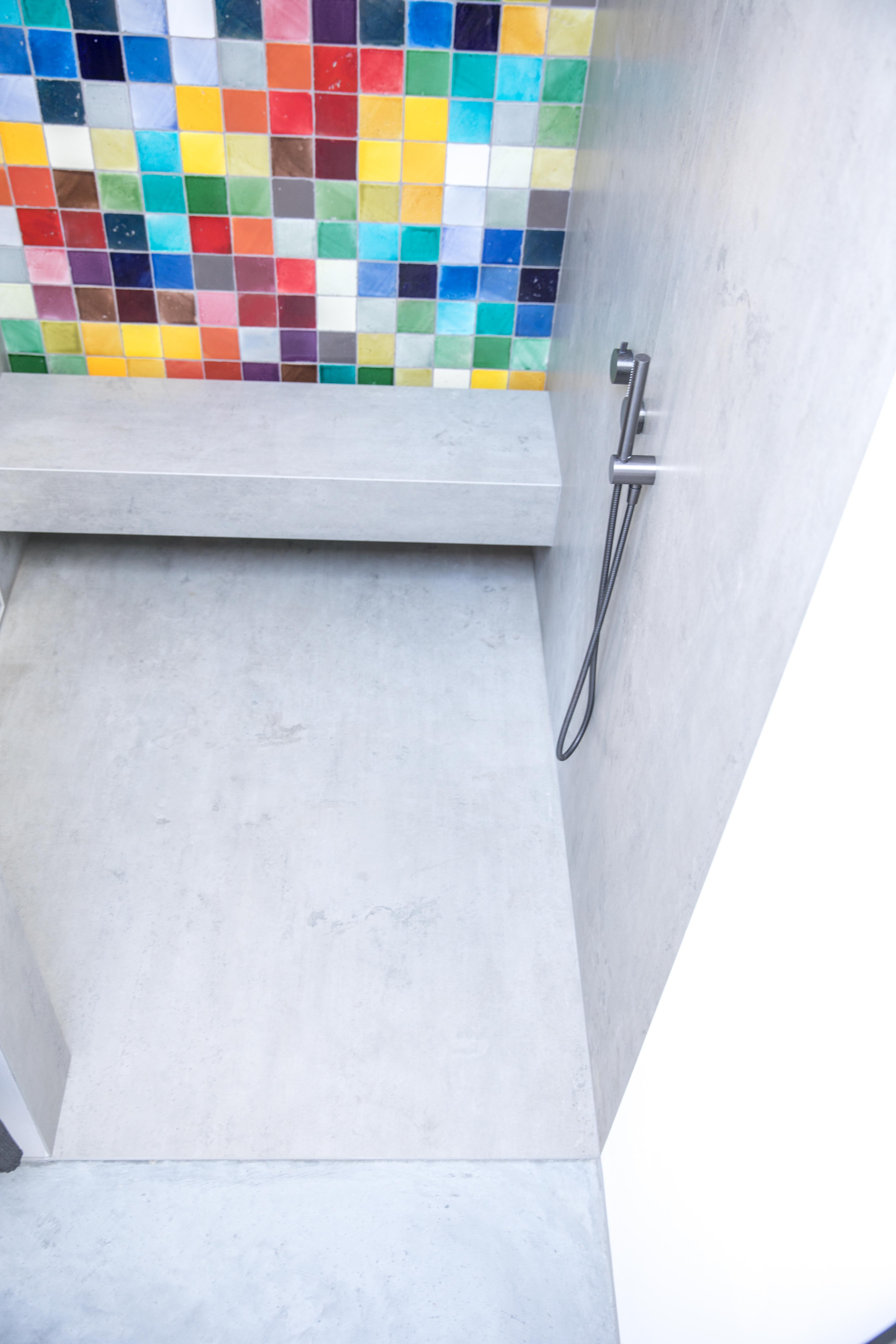 Badezimmer Mit Pandomo Wall Designboden Sichtestrich Werkhaus Badezimmer