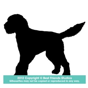 Goldendoodle Silhouette Mat And Frame This
