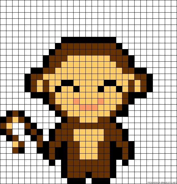 perler beads pattern monkey - Google Search | Perler bead