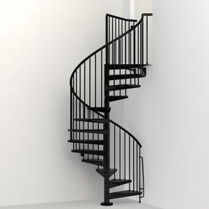 Arke Civik 47 In Black Spiral Staircase Kit K03016 In 2020 | Flexible Handrail For Spiral Staircase | Staircase Ideas | Stair Kit | Loft Stairs | Stair Parts | Modern Staircase