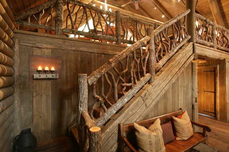 Merveilleux Log Cabin Staircase