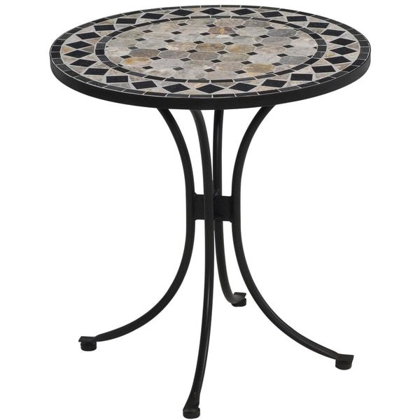 Home Styles Tan/Black Marble Tile Top Bistro Table | Enclave ...