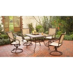 Andrews 5 Piece Patio Dining Set T05F2U0Q0056R at The Home Depot