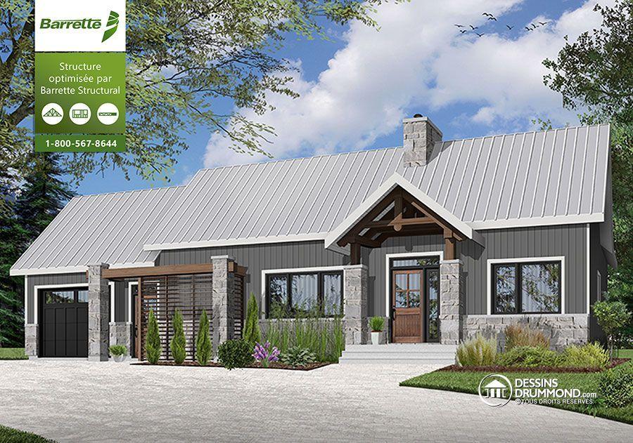 Détail du plan de Maison unifamiliale W3992-V1 House plans