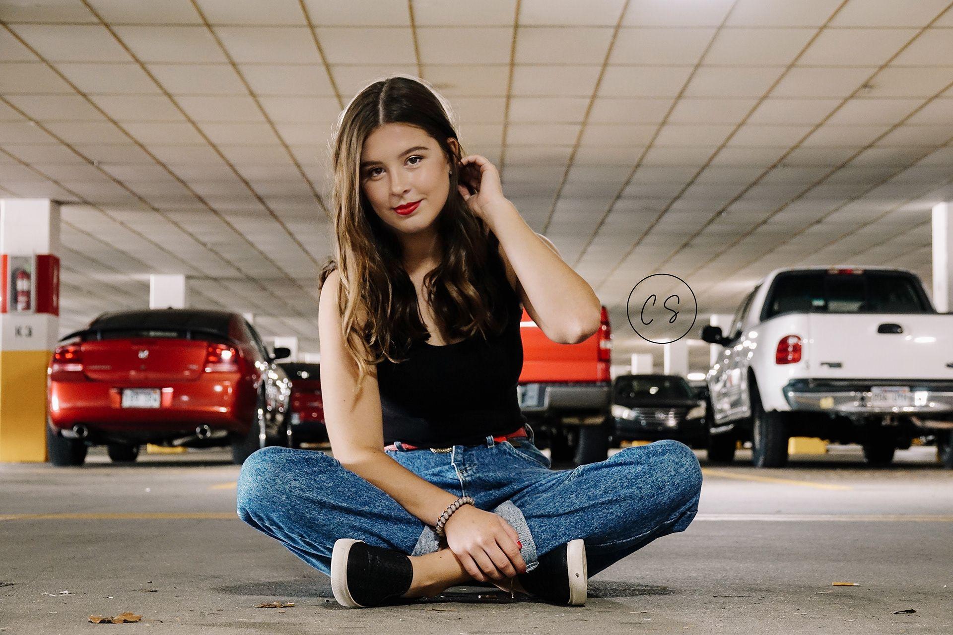 Parking lot photoshoot