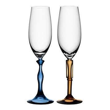 Kosta Boda Two Of Us Champagne Flute, Pair | Bloomingdale's