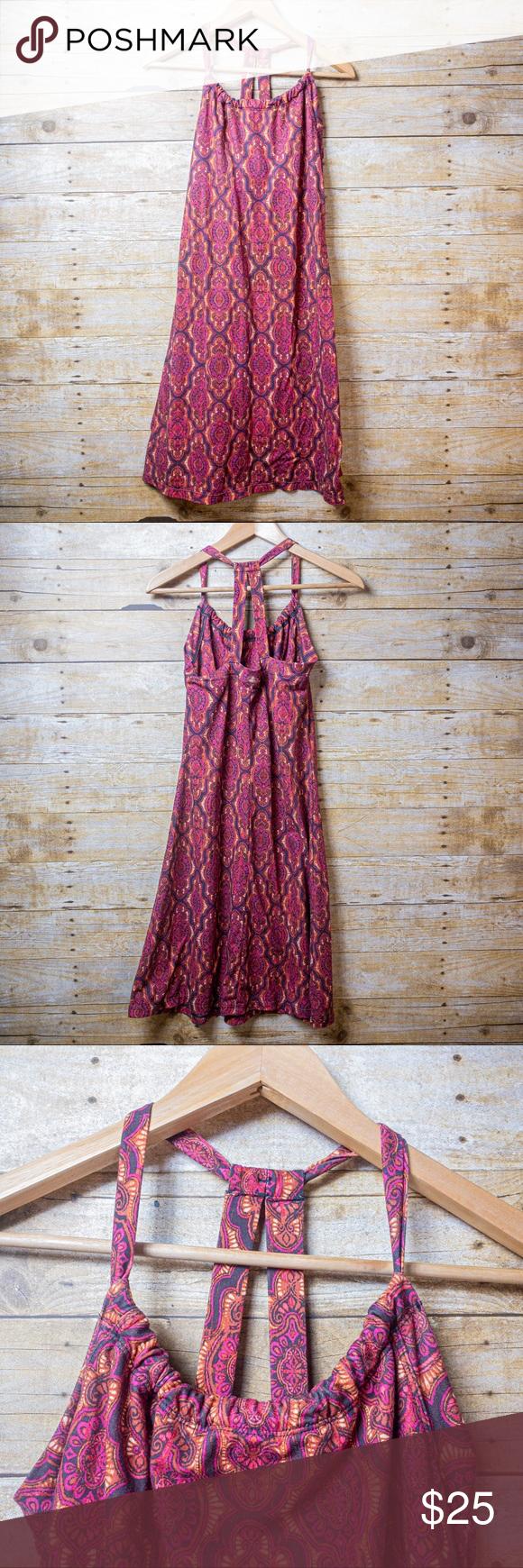 Prana Summer Dress Orange Pink Clothes Design Summer Dresses Colorful Dresses [ 1740 x 580 Pixel ]