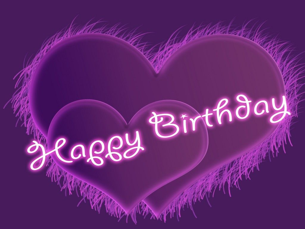 birthday 13 | Happy birthday hearts, Purple happy birthday