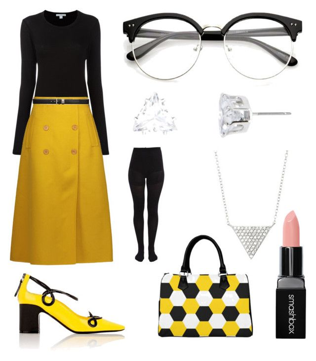 Shapes of Yellow by pinesie on Polyvore featuring polyvore, fashion, style, James Perse, Rochas, Fabrizio Viti, Forever 21, Smashbox and clothing