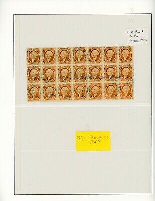 First Issue Us Revenue Stamp R6c Block Of 21 Canceled Apr 30 1867 Gift Voucher Design Revenue Stamp Voucher Design