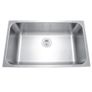Mirabelle MIRUC309 Stainless Steel Undermount   Single Bowl Kitchen Sink   Stainless  Steel