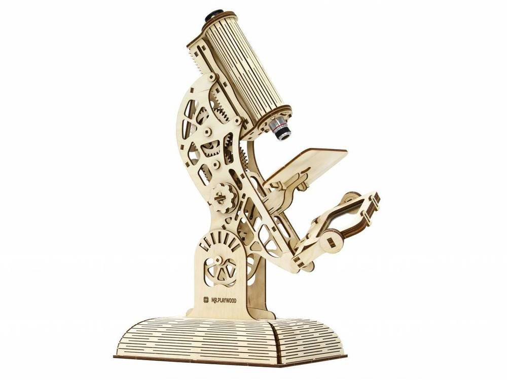 MICROSCOPE - MrPLAYWOOD - 3D Mechanical Wooden Model