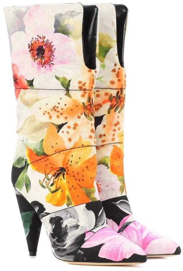 8a146ab257d1 Jimmy Choo X Off-White Sara 100 floral jacquard boots