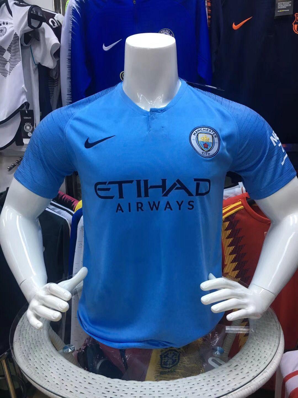 6863a138c816e7 2018-2019 club Manchester City home whatsapp:+8613517692618 football jersey  soccer jersey fans