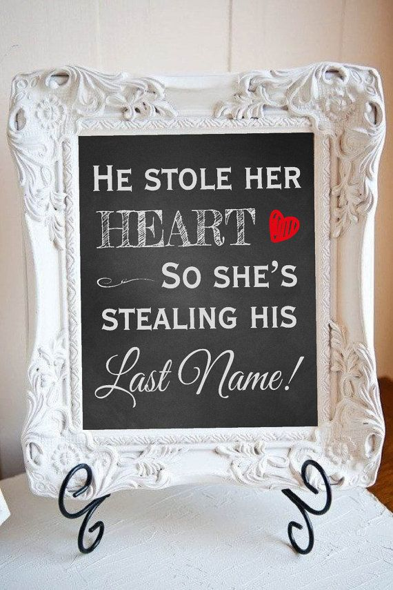 8x10 Bridal Shower He Stole Her Heart She by DesignsByLindsayy