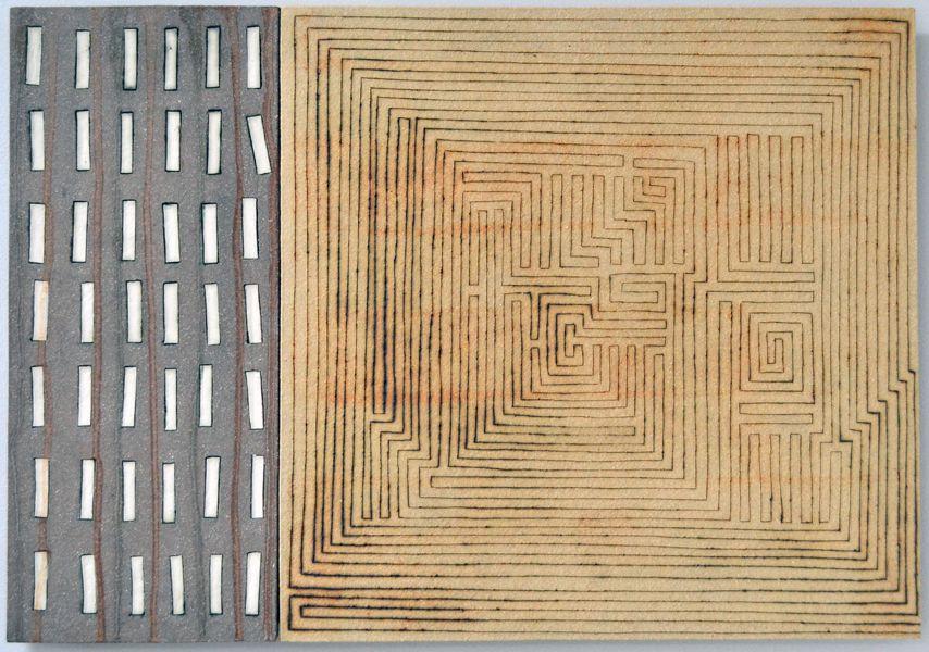 Clare Crouchman - \'Alignment\' Ceramic Wall Art 60 x 43 cm ...