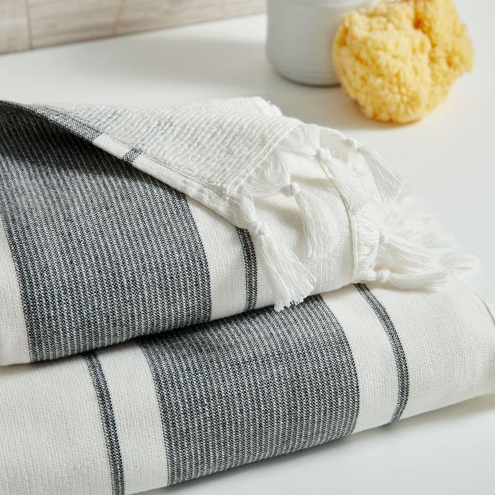 Organic Turkish Tassel Towel Bath Towel Gray Sky In 2020 Towel