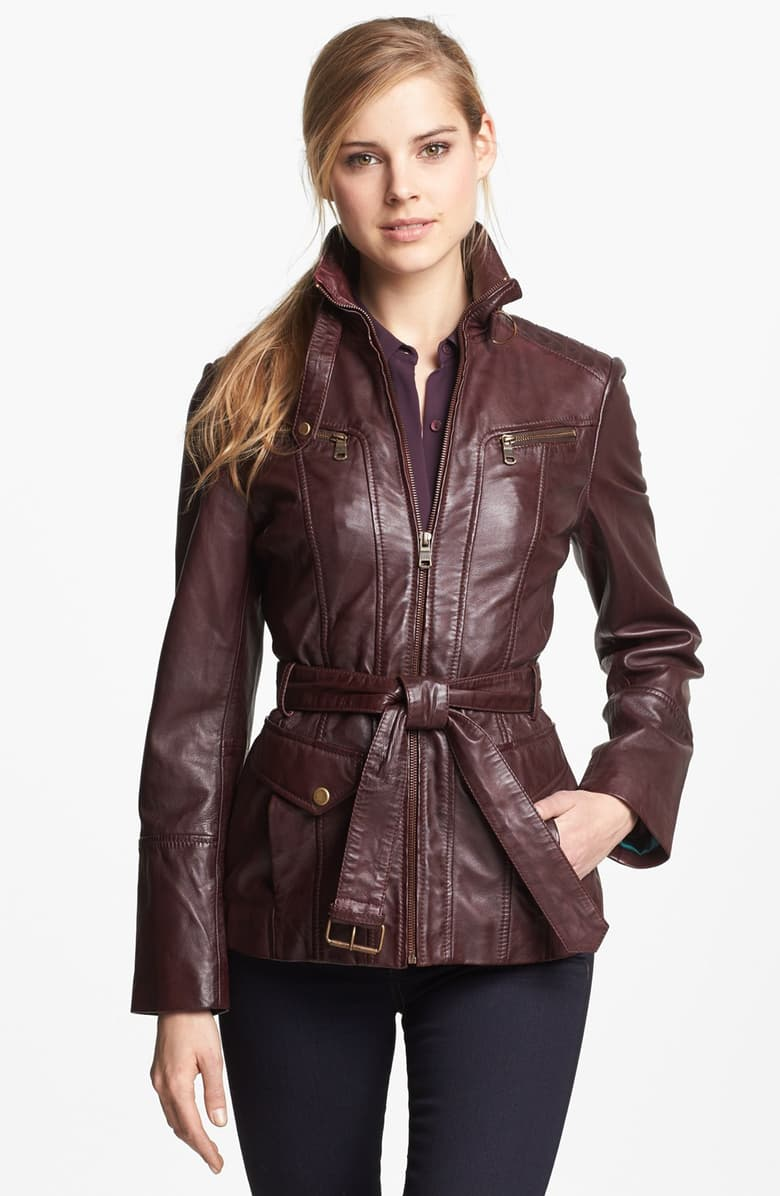 Marc New York by Andrew Marc Belted Leather Jacket