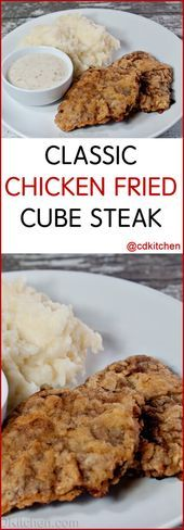 Photo of Classic Chicken Fried Cube Steak – Serve this easy family fa…