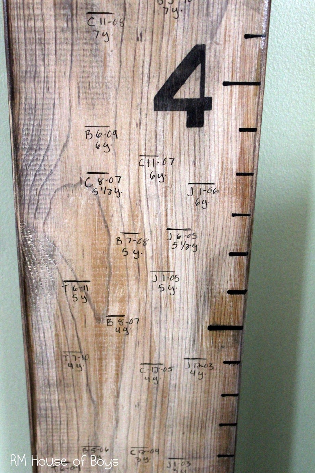 It seems like almost everyone is making a knock off pottery barn growth ruler nvjuhfo Choice Image