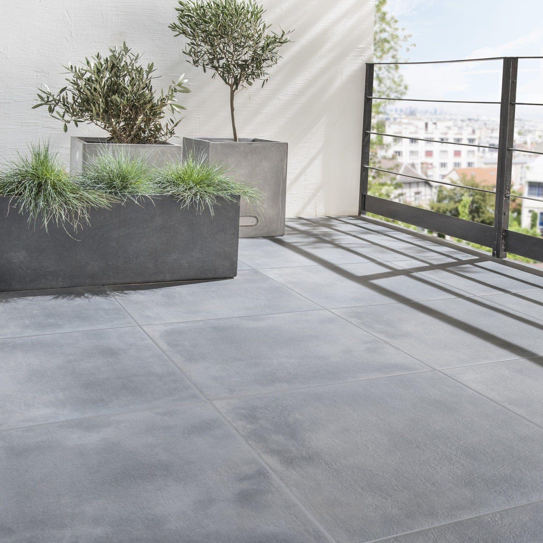 Carrelage sol et mur extérieur forte pierre noir Dolce vita l.60 x L.60 cm ARTEN