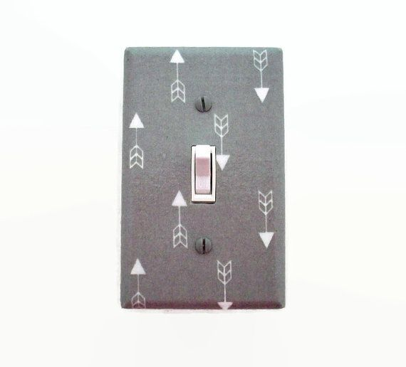 Arrows Switch Plate Cover  Grey Arrow Light Switch Cover