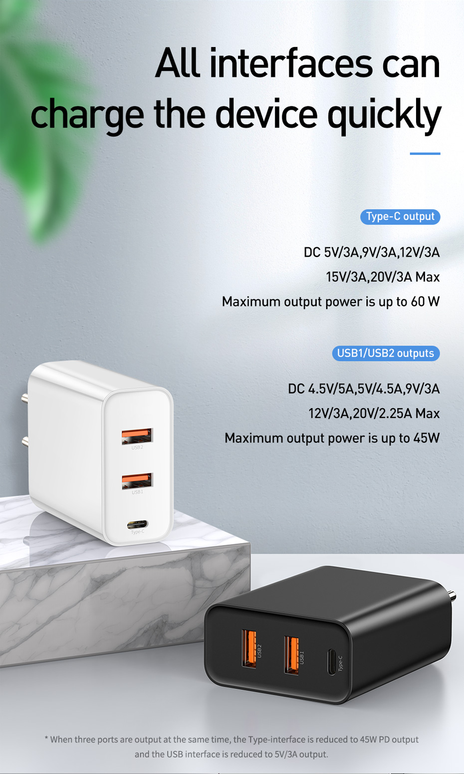 Baseus 3 Ports Usb Charger With Pd3 0 Fast Charger For Iphone 11 Pro Max Xr 60w Quick Charge 4 0 Fcp Scp For Redmi Note 7 X Charger Adapter Usb Chargers Xiaomi