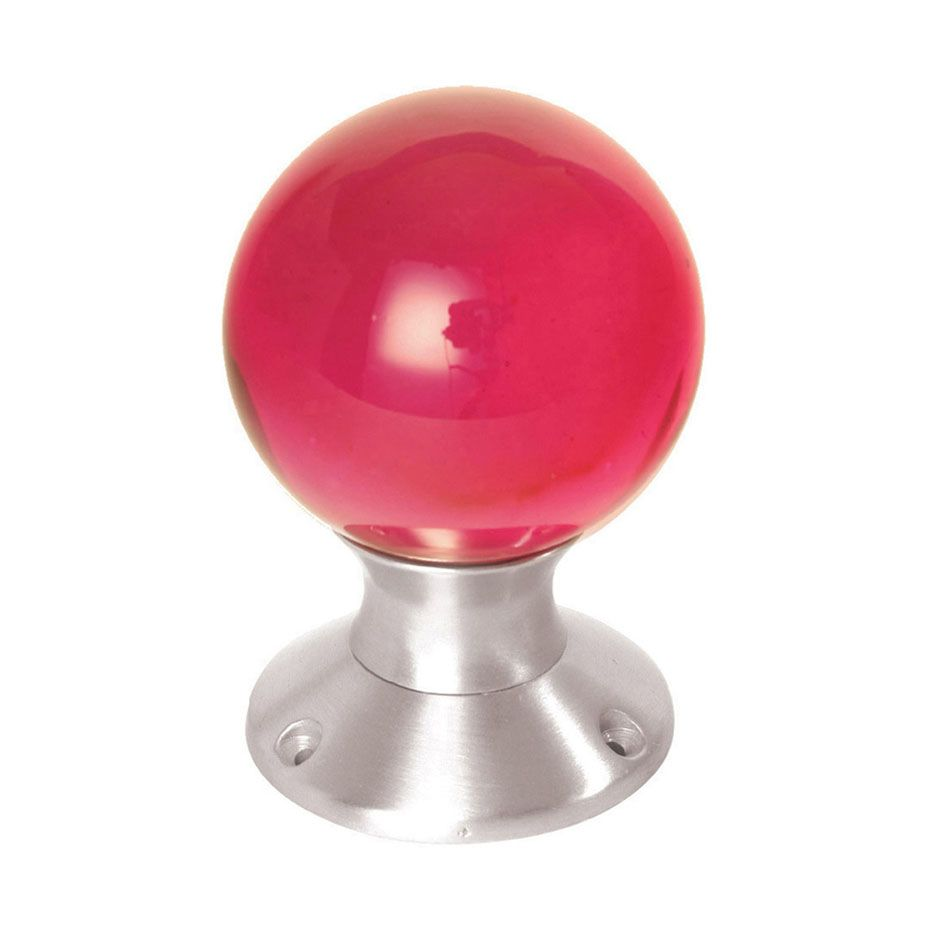 coloured glass door knobs (looks like rudolph\'s nose!) | a knobby ...