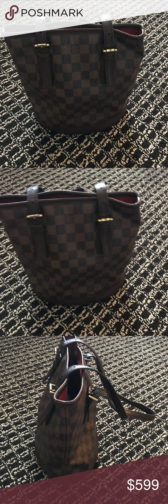 fb54a92351 Louis Vuitton Damier Ebene PM Bucket Bag 💯 Authentic Louis Vuitton  Monogram Alma Bag. Too small for me to use. Inside lining is a little dirty  from use, ...