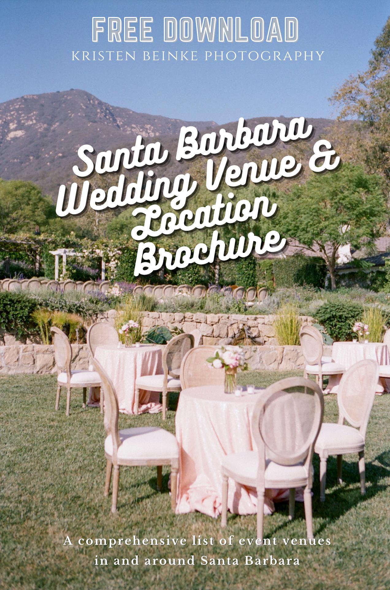 Free Wedding Venue And Location Brochure In 2020 Free Wedding Venues Santa Barbara Wedding Venue Venues