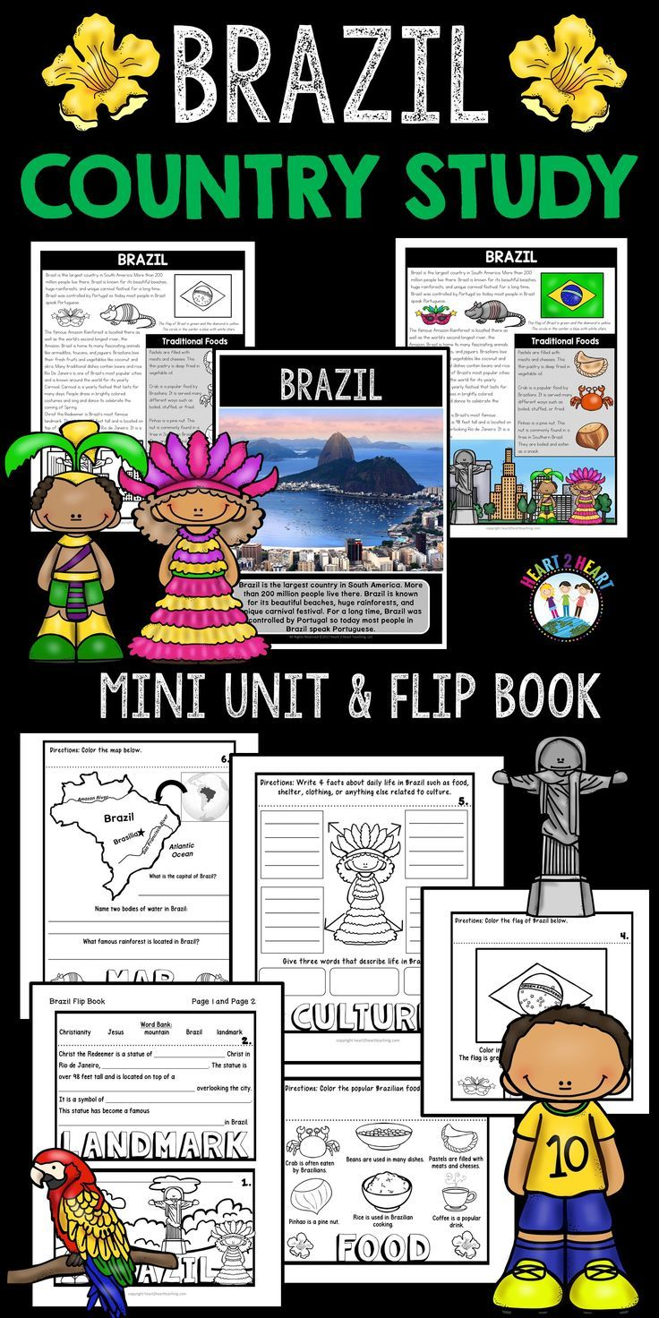 Brazil Country Study: A Mini-Unit & Brazil Flip Book ...