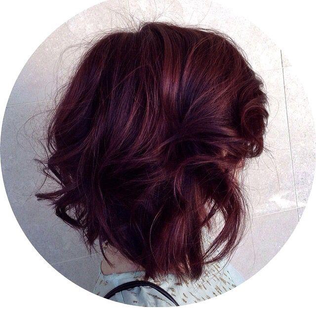 Plum Brown Hair Hair Styles Burgundy Hair Hair Color Plum