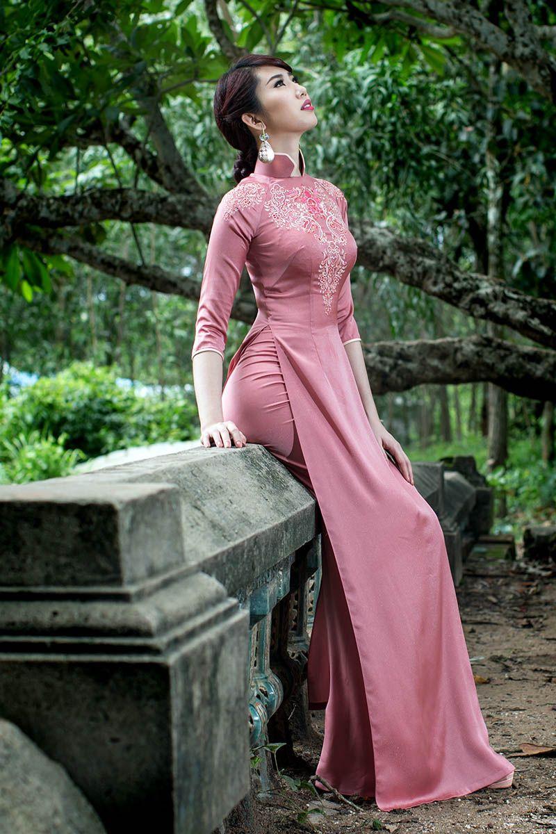silk Ao Dai | 民族衣装 | Pinterest | Vestidos chinos, Vestido ...