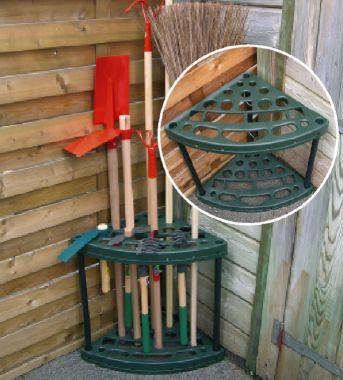 porte outils d 39 angle b jardinage rangement jardin. Black Bedroom Furniture Sets. Home Design Ideas